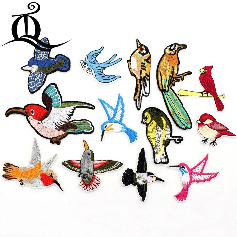 っ1 unids Costura ropa caliente pájaro animal en Bordado Parches ...