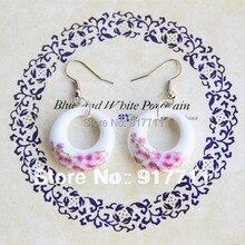 Drop Earrings Large Hoop Jingdezhen Ceramic New Fashion Vintage Jewelry Accessories Wholesale Cool For Women Girls