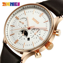 SKMEI Relojes de Moda Negocio de Los Hombres Ocasionales De la Marca de Cuarzo Relojes de Pulsera 30 M Impermeable Casual Reloj Relogio masculino 9117