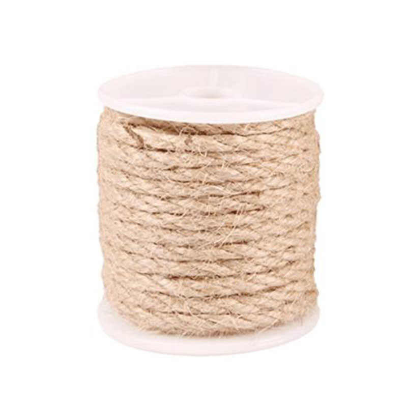 10M Natural Burlap Hessian Jute Twine Cord Hemp Rope String Gift Packing Strings Christmas Event & Party Supplies 4/6/8/10mm