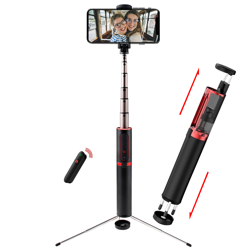 Image 2 - SAMTIAN 3 in 1 Wireless Bluetooth Selfie Stick Tripod Fold Handheld Monopod 360 Rotation Phone Stand For Mobile Photo Smartphone-in Selfie Sticks from Consumer Electronics