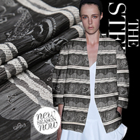 Gray jacquard fold fabric fashion fabric clothing fabric
