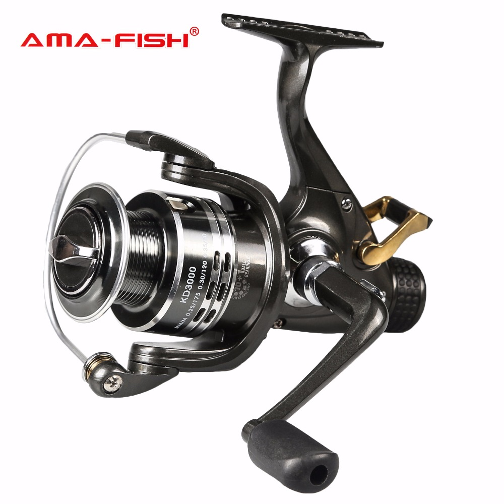 100% Brand AMA-Fish  10+1BB Moulinet Peche Carretel De Pesca Fishing Reels Feeder Carp Reel Max Drag 6.0kg Gear Ratio 5.2:1 lawaia 11 axis drop round saltwater fishing reels big games speed ratio 6 3 1 cup capacity 2 210 carp fishing reel fish vessel
