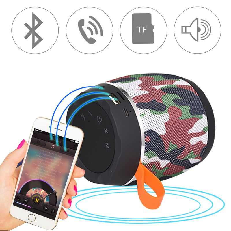 AABB-портативный Bluetooth мини динамик беспроводной сабвуфер стереоколонка коробка тканевая крышка Ткань планшет Динамик s камуфляж