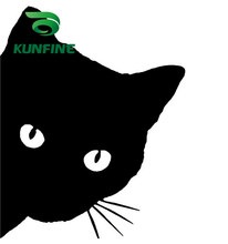 KUNFINE Car Styling sticker Cat Head Car Sticker Vinyl Decal Decoration film Car Diy Sticker Tuning parts(China)
