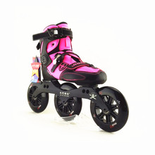 JIE KE HAI DAO Professional Roller Skate Inline Speed Skating Shoes 120MM/125MM big wheels 3 wheels skating shoes