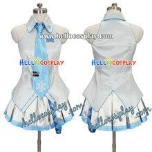 Vocaloid 2 Cosplay Snow Miku Dress H008
