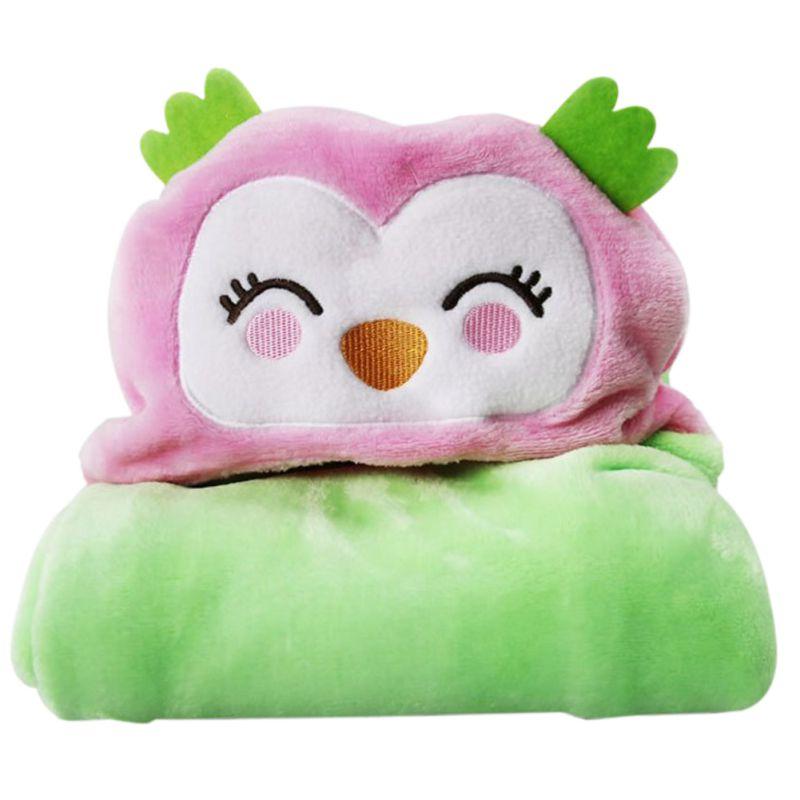 Newborn Cute  Baby Bath Towel Soft Flannel Cartoon Infant Bath Bathrobe Animal Hooded Sleep Blanket