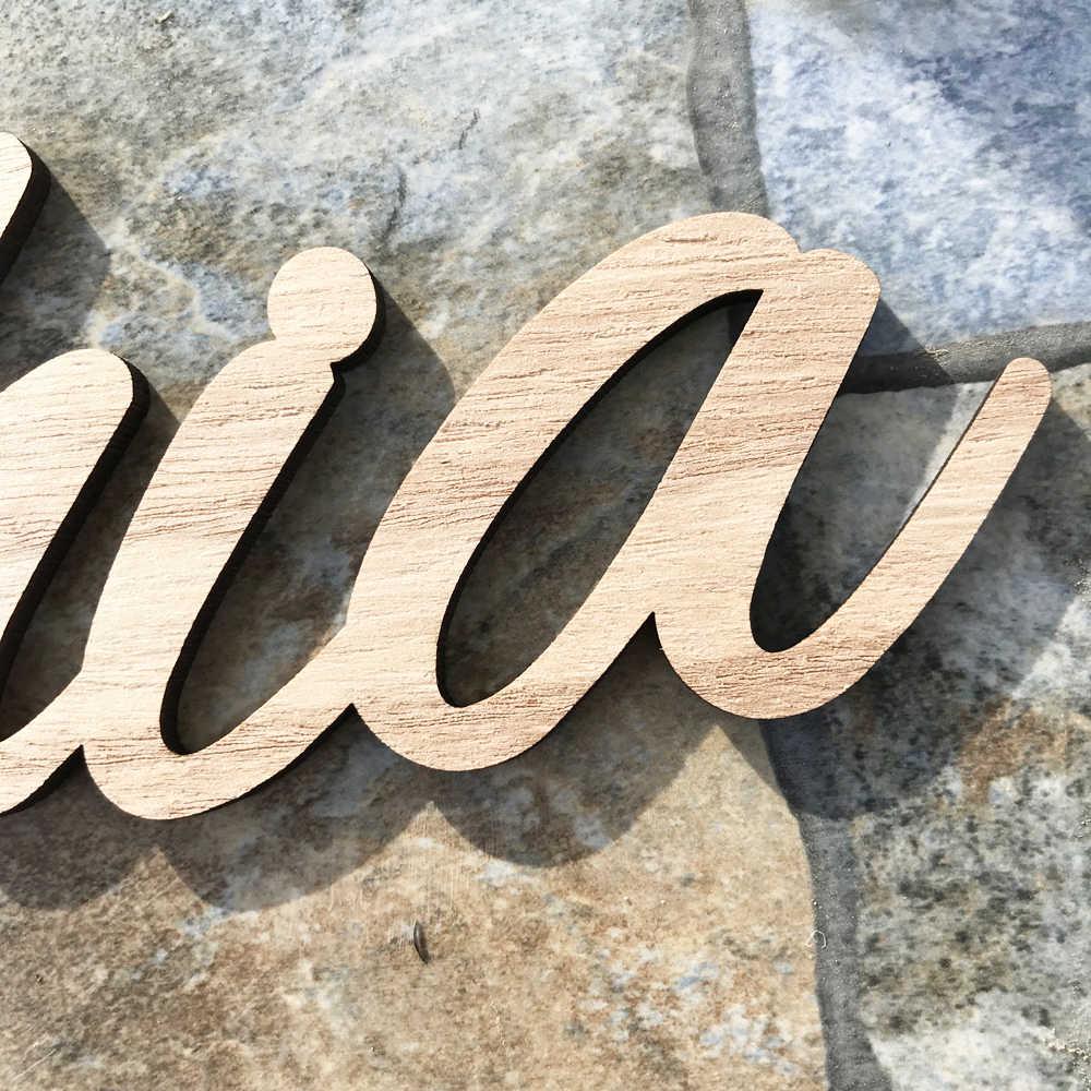 Песонализованные названия деревянные знаки на заказ знак имени украшение для свадебного стола стол деревянные буквы дерево Детское Имя