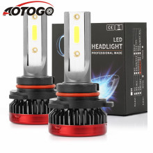 цена на 1 pair 12v H1 H7 H11 9005 9006 LED Mini Headlight Bulbs COB Car Driving Lamps 6000K White Fog Light LED Headlamp bulbs