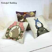 Cushion-Cover Animal Outdoor Cartoon Green Pillowcase Bedroom Home-Decoration Totoro