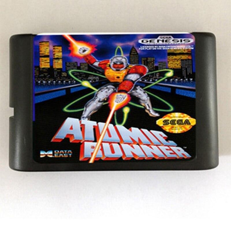 Atomic Runner 16 bit MD Game Card For Sega Mega Drive For SEGA Genesis