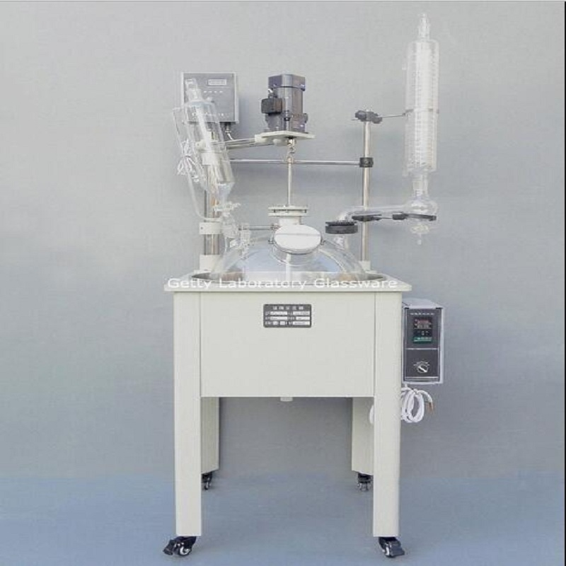 10L Single-deck Chemical Reactor, Glass Chemistry Reaction Vessel w Water Bath stirring motor driven single deck chemical reactor 20l glass reaction vessel with water bath 220v 110v with reflux flask