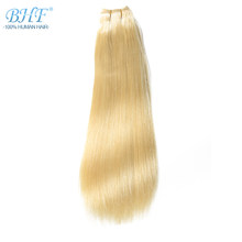 "BHF Straight European Remy Human Hair Weft Double Drawn Platinum Blond Hair Weave Extensions 18"" to 24"" Fast Free Shipping(China)"