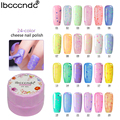 7ml UV LED Nail Gel 24 Colors Cheese Gel Colorful Varnish for Nail Art Design Lasting Semi-permanent Lacquer Soak Off Gelpolish