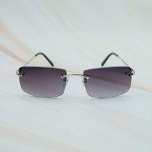 ebaf22041f New Popular Unisex Rimless Metal Sunglasses Men Women Brand Carter Sunglass  UV Protect Retro Vintage Designer