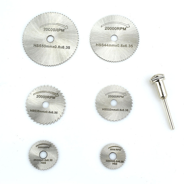 Woodworking Circular Saw Blades Kit Set Fits Dremel 1/8″ Mandrel Mini Cutting Disc for Wood Carving NEWACALOX HSS Rotary Tool