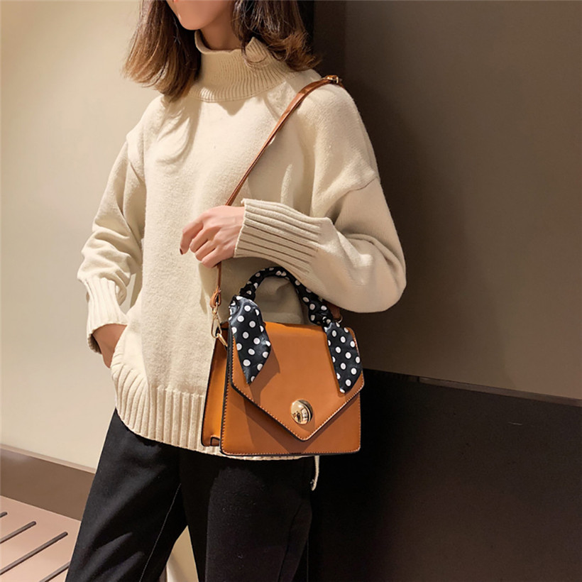 Big Sale 2018 Autumn New Bag for Women Tide Female Bag Wild Big Bag Retro Handbag Commuter Scarf Femme Shoulder Messenger Bag 4