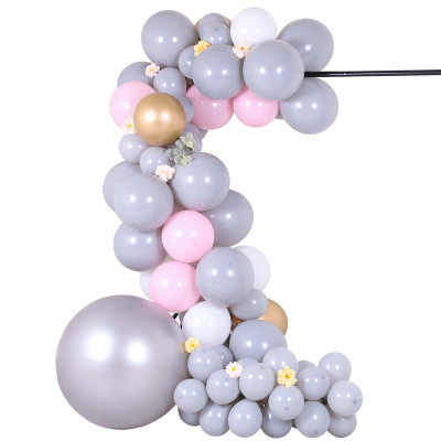 "100pcs Gorgeous Grey Balloons 5"" 10"" 12"" Cool Gray Balloon Bouquet Balloons Garland for Baby Shower First Birthday Wedding Decor"