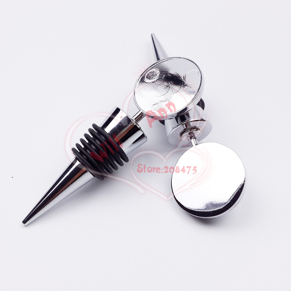 30PCS Blank Metal Wine Bottle Stopper for DIY Crystal Dome Cabochones Accessory