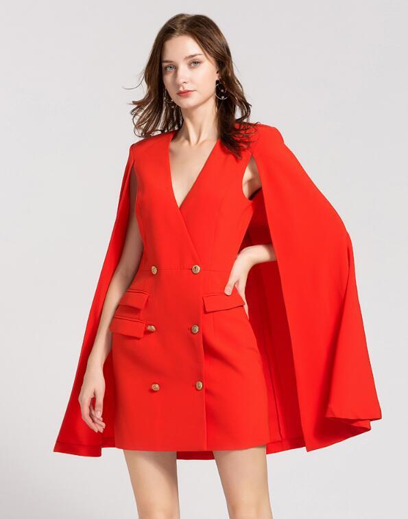 Dresses Friendly Women Dress 2018 Winter Sexy New Year Red Dress Bodycon V-neck Ol Office Lady Work Dress Elegant Vestidos De Fiesta Sp81