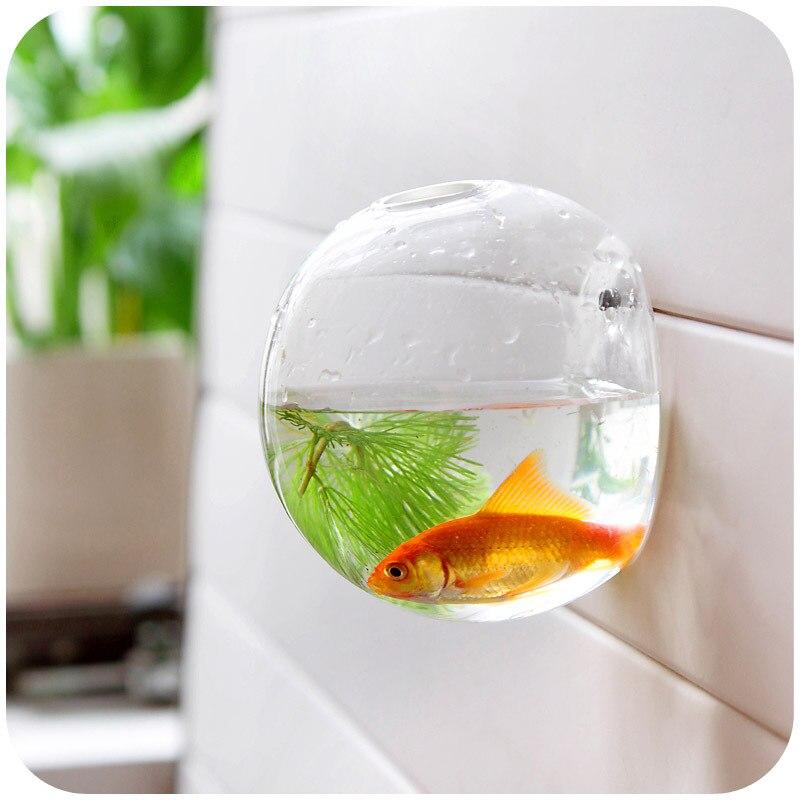 Decoración del hogar floreros cristal colgante de pared decorativo jarrones pecera tanque de peces de acuario