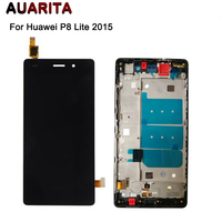 For Huawei P8 Lite LCD Display Touch Screen With Frame Digitizer Assembly Replacement Glass Panel For