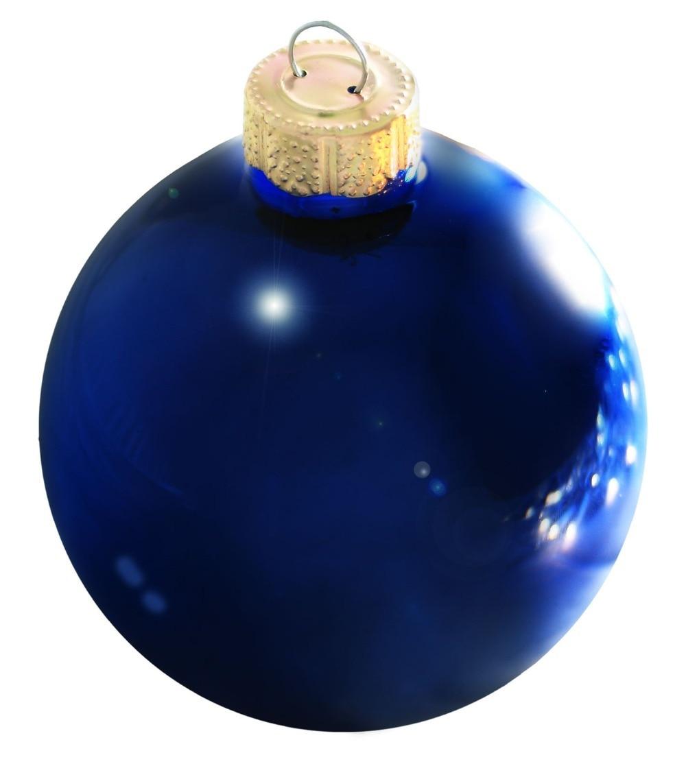 Popular blue glass ball ornaments buy cheap blue glass for Christmas tree balls