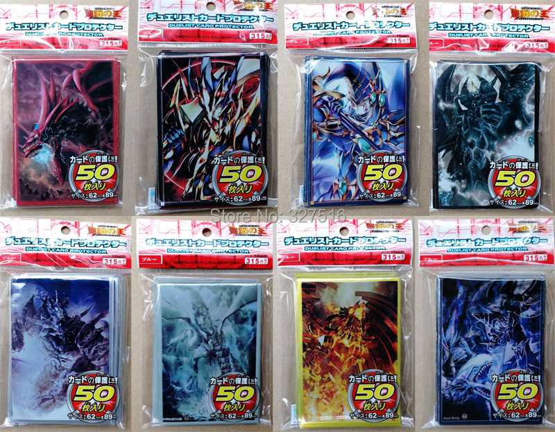 50pcs/lot (1 pack) Yu-Gi-Oh! Cosplay Yugioh Dark Magician Girl Anime Board Games Card Sleeves Card Barrier Card Protector image