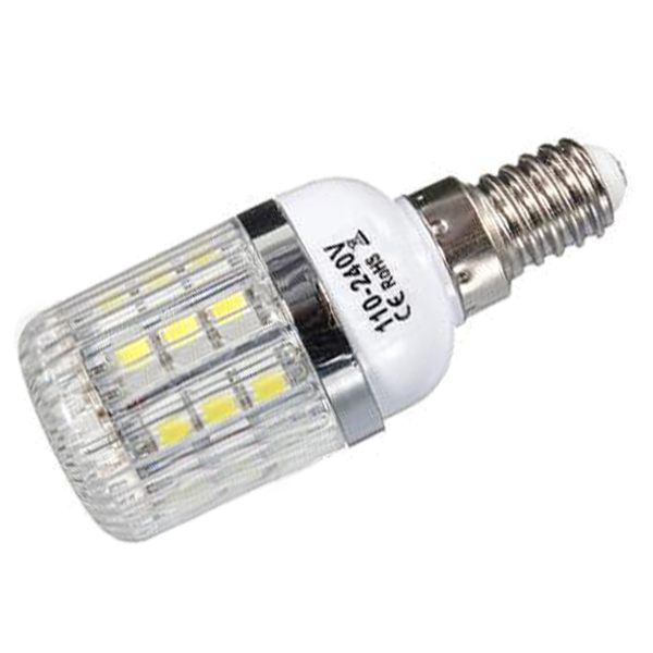 E14 5W Dimmable 27 SMD 5050 LED Corn Light Bulb Lamp Color Temperature:Pure White(6000-6500K)  Amount:8 Pcs g9 5w dimmable 27 smd 5050 led corn light bulb lamp color temperature pure white 6000 6500k amount 8 pcs