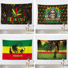 Jamaican Reggae Music beatbox Rock flag banner Vintage poster tapestry Hanging painting wall hanging Bar cafe concert home decor(China)