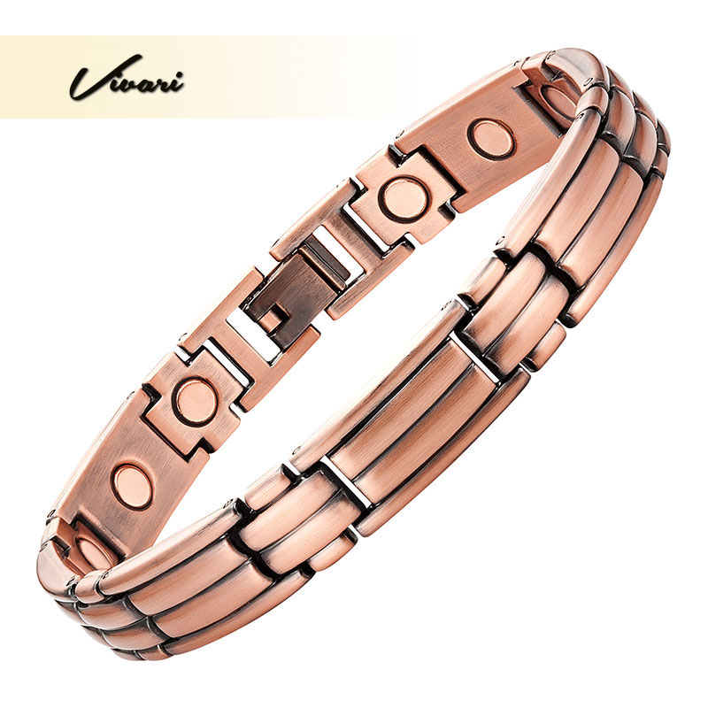 Vivari Classic Copper Plating Magnetic Women Bracelet Magnet Gift Jewelry Bio Healing Bracelet For Women Health Charm Wristband