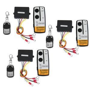 Image 2 - CARCHET Universal 3pcs Winch Wireless Remote Control Kit 12V 50FT For Jeep Truck SUV ATV For Self recovery Winch FREE SHIPPING