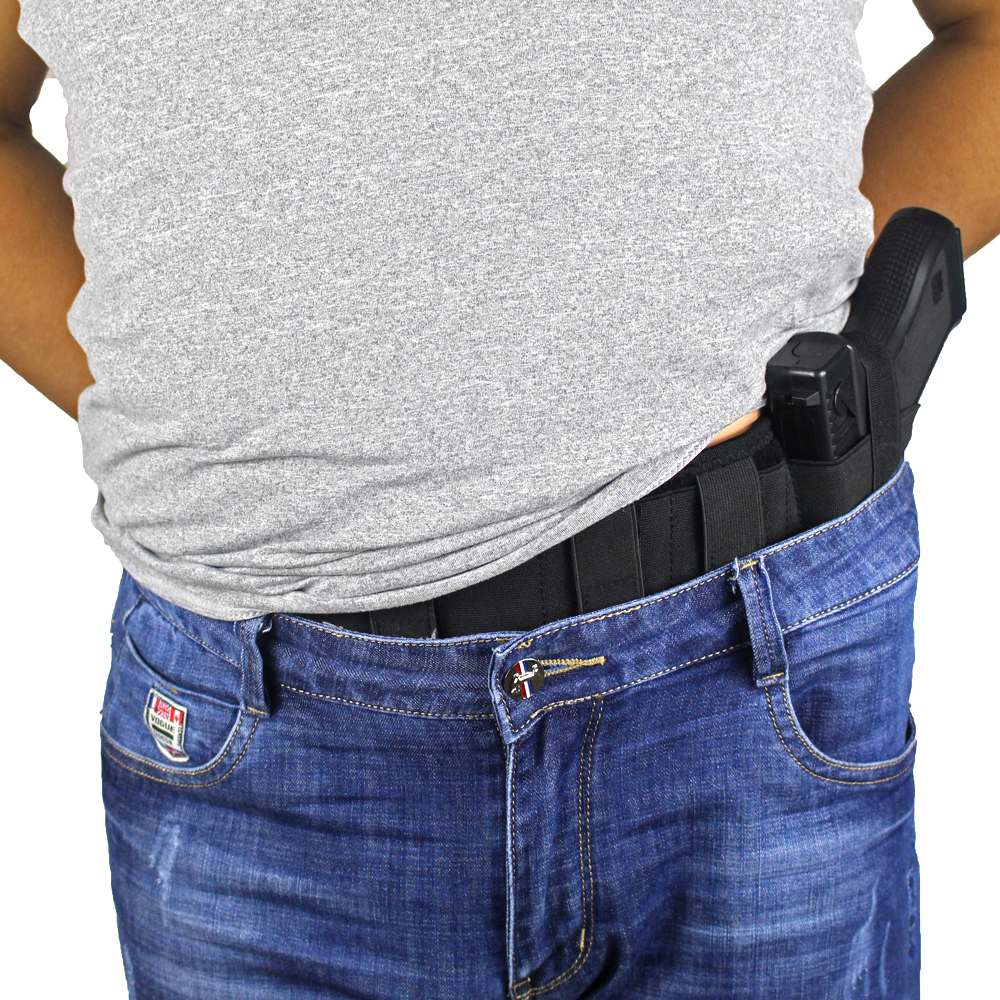 "US 47/"" Ambidextrous Elite Duty Belly Band Holster for Concealed Carry Light Tan"