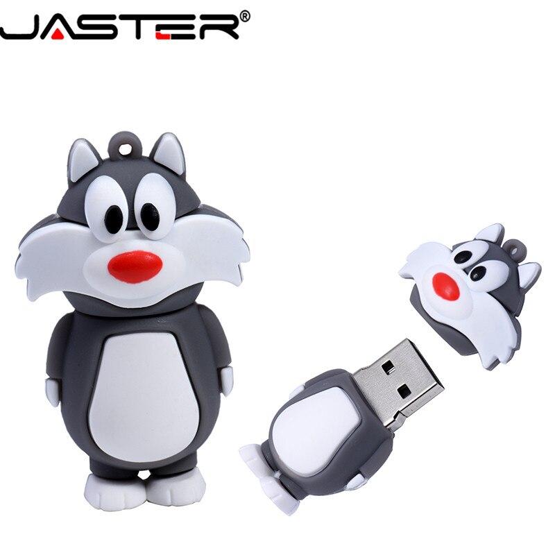 JASTER  The New Cute Bugs Bunny  USB Flash Drive USB 2.0 Pen Drive Minions Memory Stick Pendrive 4GB 8GB 16GB 32GB 64GB Gift