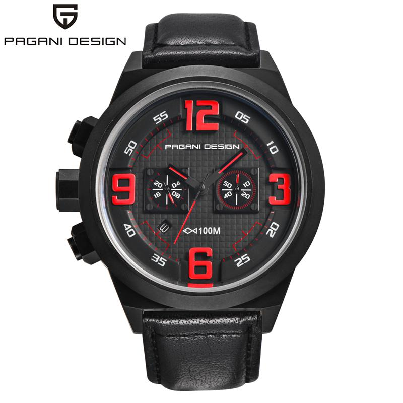 PAGANI Japan Quartz Watches Sports DESIGN Leather Luxury Brand Auto Date Chronograph Mens Watches Relogios Masculino CX-2652PAGANI Japan Quartz Watches Sports DESIGN Leather Luxury Brand Auto Date Chronograph Mens Watches Relogios Masculino CX-2652