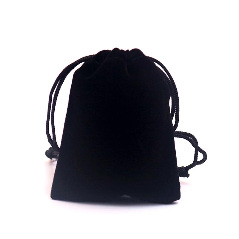 5 x Small velvet  bag w Drawstrings for jewelry headphones mp3 players 9 x 7 cm
