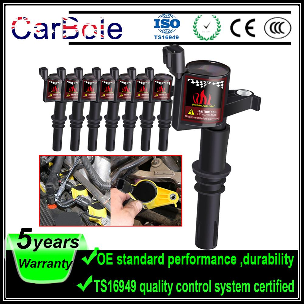 Carbole 8pcs DG511 Ignition Coil For <font><b>Ford</b></font> 2004 2005 <font><b>2006</b></font> 2007 2008 F-150 <font><b>F150</b></font> F250 Expedition 4.6L 5.4L V8 V10 FD508 image