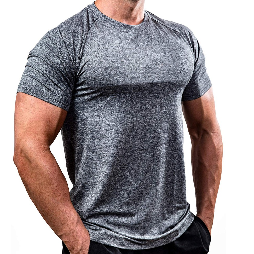 Men T Shirts Summer Sports Running Top Tees Mens Clothing Short Sleeve Casual O Neck Quick Drying Fitness Tshirt Sportwear