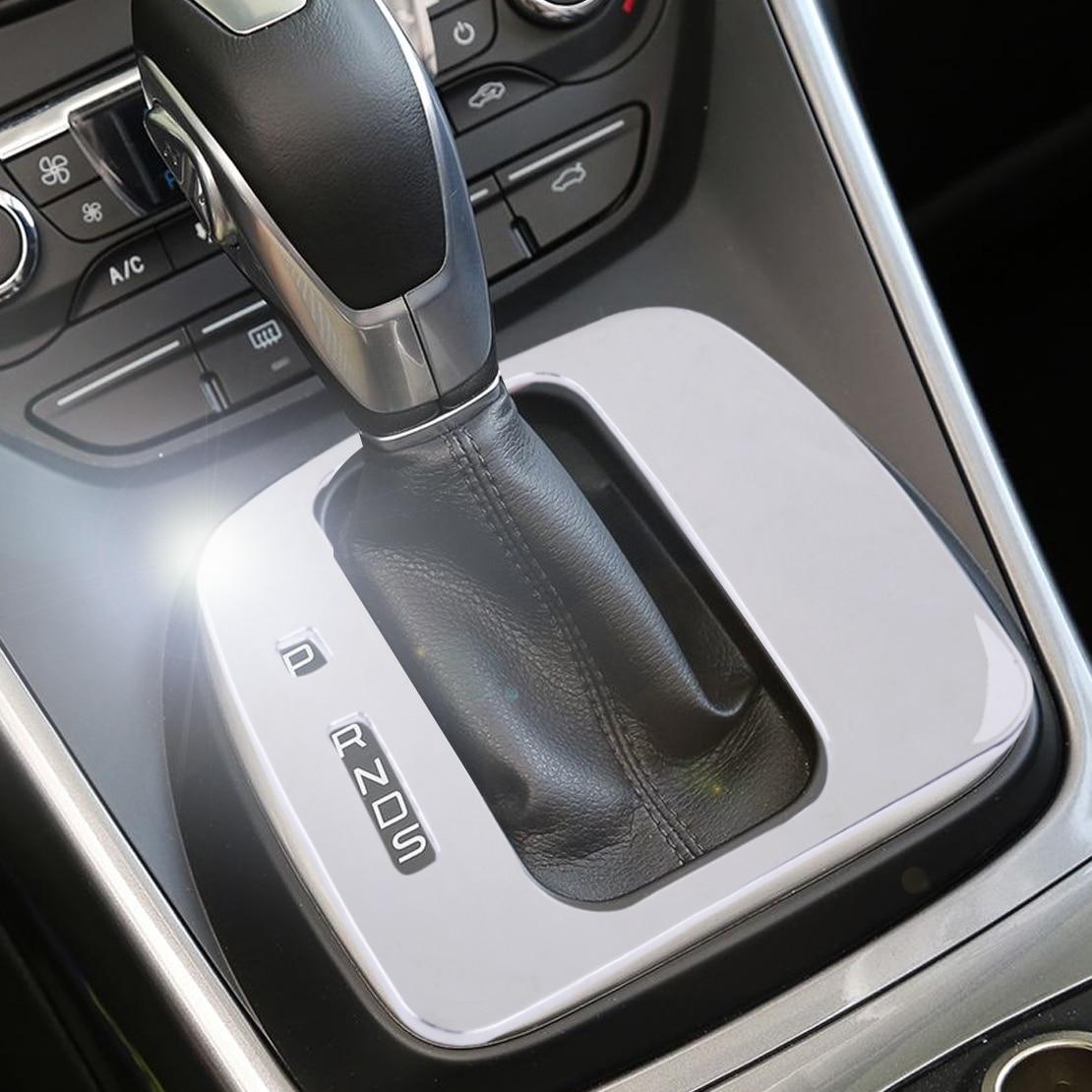 DWCX Prata ABS Cromado Tampa Moldura Do Painel Guarnição do Deslocamento de Engrenagem Acessórios do carro Apto Para Ford Escape Kuga 2013 2014 2015 2016