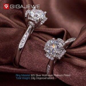 Image 4 - GIGAJEWE Moissanite แหวน 1.2ct VVS1 รอบตัด F สี Lab เพชรเงิน 925 เครื่องประดับ Love Token ผู้หญิงแฟนของขวัญ Courtship