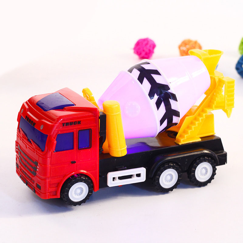 Children Toys Concrete Mixer Truck Model With Light Sound Vehicles Toy Cement Mixed Engineering Car Kids Boys Gift YH-17