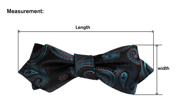 point tip bowtie size