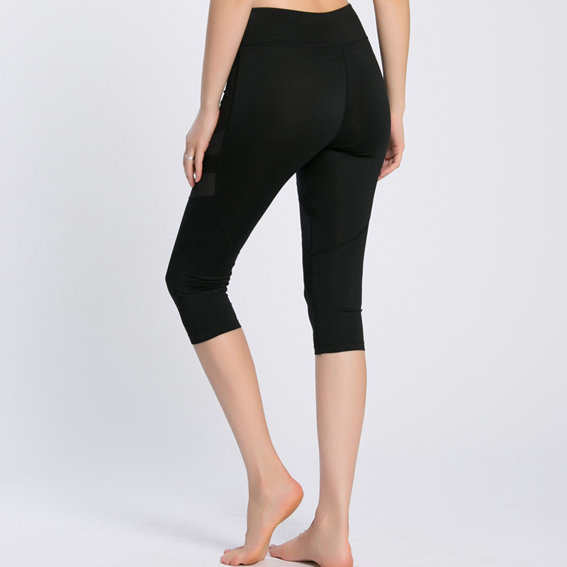 Sport Shorts For Women Sexy Yoga Shorts Quick Dry Leggings Fitness Running Elastic Workout Shorts Athletic Knee Length Trousers in Yoga Shorts from Sports Entertainment