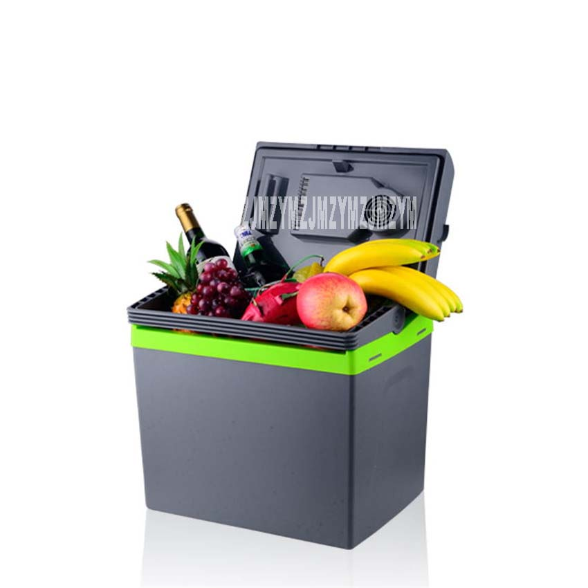 30L Car Home Portable Thermoelectric Fridge 12V/ 220V Cooler Box Warmer Dual Purpose High Capacity Travel Refrigerator 48-55W