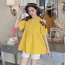 58be42e63c9bb Maternity Suit Pregnant Sweet Dot Two Sets Pregnant Woman Clothes Fashion Short  Sleeve Tops Belly shorts