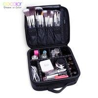 Docolor Woman Cosmetic Bags Make up Brushes Organizer Makeup Bag Folding Travel Toiletry Bag Large Capacity Storage Beauty Bag