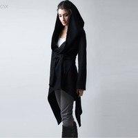 2016 New Spring Autumn Women Coat Medium Long Hooded Cardigan Coat Thin Women Casual Dress Coat