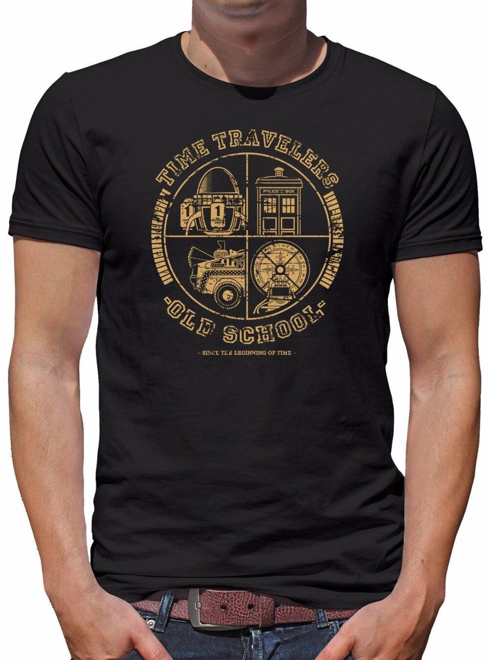 Футболка Homme 2018 Новый Топ Футболка 100% хлопковая рубашка все время путешественников Herren футболки с принтом 100% хлопок короткий рукав o-образны...