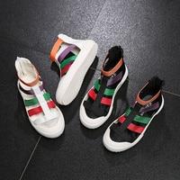 Summer Mixed Color Girls Sandals Rome Gladiator kids Sandals Hollow Out Children Shoes Beach Sport Girls Sandals Baby Sandals